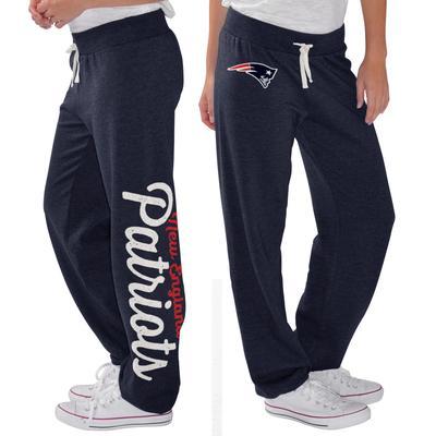Women's New England Patriots G-III 4Her by Carl Banks Navy Scrimmage Fleece Pants