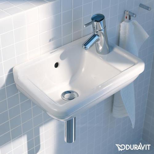 Duravit Starck 3 Handwaschbecken B: 40 T: 26 cm weiß, mit 1 Hahnloch 0751400000