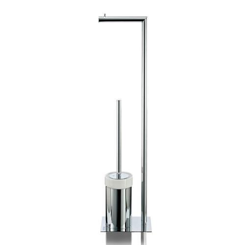 JOOP! CHROMELINE Stand-WC-Bürstenkombination B: 125 H: 700 T: 170 mm chrom/weiß 010310000