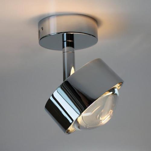 Top Light Puk Turn Deckenleuchte, dimmbar Halogen, Ø 8 H: 10.3 cm, chrom 2-28002, EEK: A+