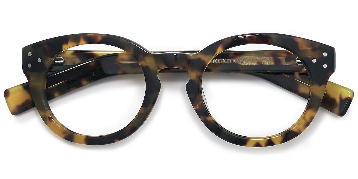 Female's Round Tortoise Acetate Prescription eyeglasses - EyeBuydirect's Morla