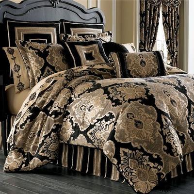 Bradshaw Black Comforter Set, King, Black