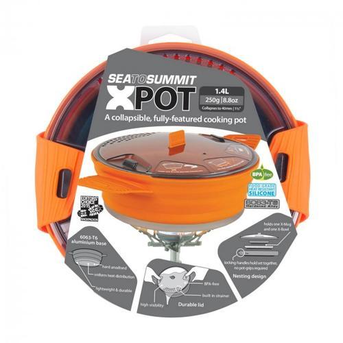 Sea to Summit - X-Pot - Topf Gr 1,4 Liter grau/orange