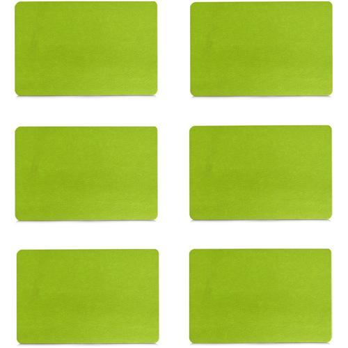 Zeller Present Platzset, (Set, 6 St.) grün Platzset Platzsets Tischwäsche