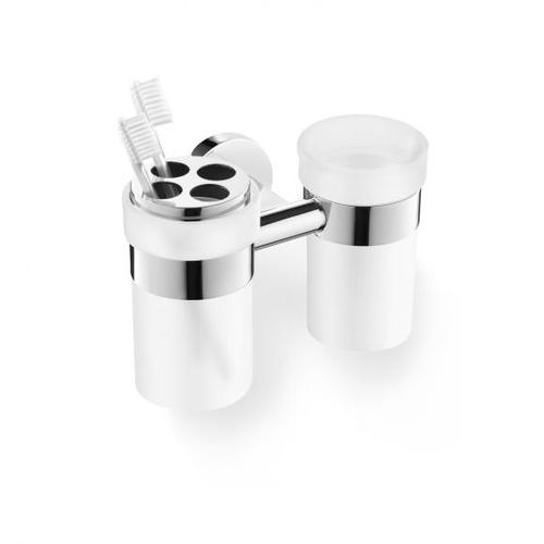 Zack SCALA Doppel-Glashalter mit Zahnputzglas 40099