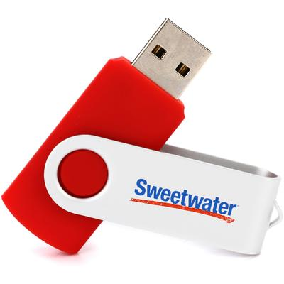 Sweetwater 8GB USB 2.0 Flash Drive - Red
