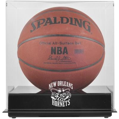 New Orleans Hornets Fanatics Authentic Blackbase Hardwood Classics 2008 - 2013 Team Logo Basketball Display Case with Mirrored Back