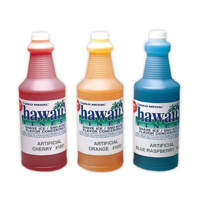 Gold Medal 1030GA 1 gal Strawberry Snow Cone Syrup Concentrate