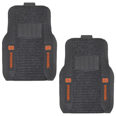 Syracuse Orange Two-Piece Deluxe Car Mat Set