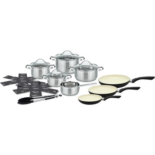 Elo - Meine Küche Topf-Set, Edelstahl 18/10, (Set, 15 tlg.), Induktion silberfarben Topfsets Töpfe Haushaltswaren Topf-Set
