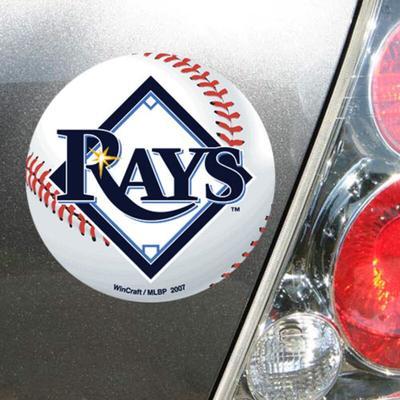 """WinCraft Tampa Bay Rays 5"""" Die-Cut Car Magnet"""