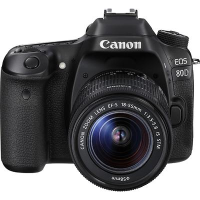Canon EOS 80D DSLR Camera with 18-55mm IS STM Lens - Black - 1263C005