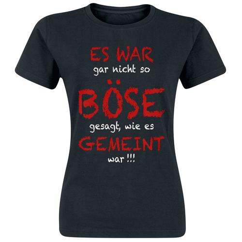 Böse gemeint Damen-T-Shirt - schwarz