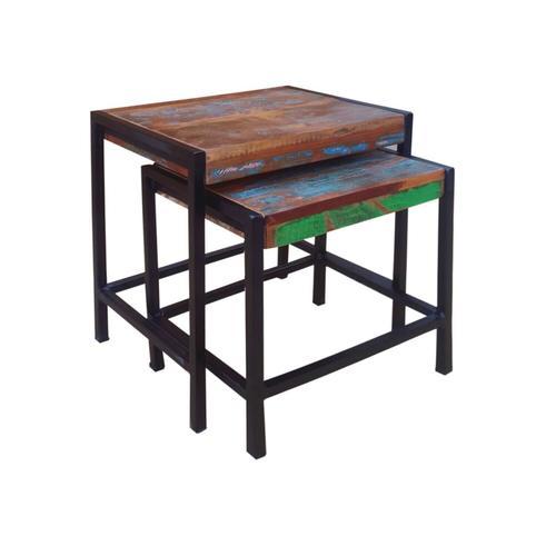 SIT Bali Couchtisch - 2er Set 45 x 35 x 50 cm & 40 x 32 x 43 cm