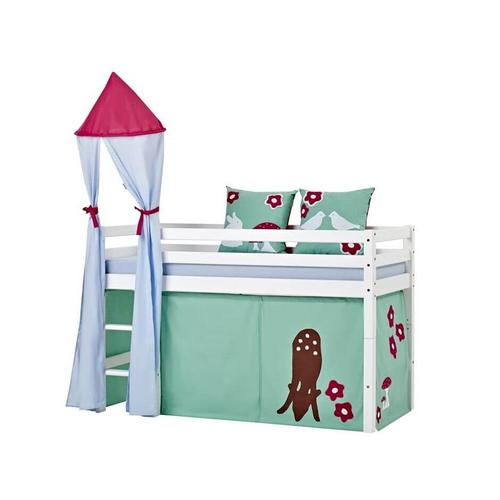 Hoppekids Basic Bett mit Leiter Mittelhochbett mit Leiter 145cm