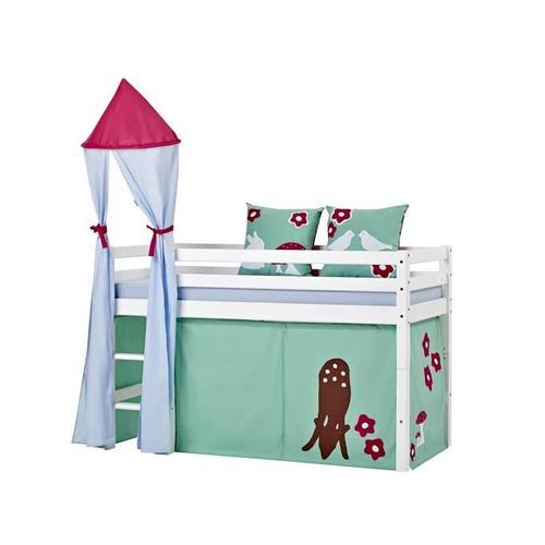 Hoppekids Basic Bett mit Leiter Halbhohes Bett mit Leiter und Rutsche