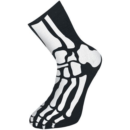 Skelett Socken - schwarz