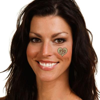 """Florida State Seminoles I Love My U 4-Pack Waterless Tattoos"""