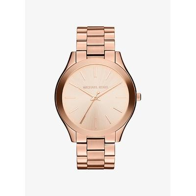 Michael Kors Oversized Slim Runway Rose Gold-Tone Watch Rose Gold One Size