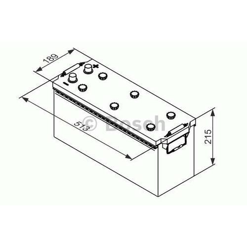 Starterbatterie 'T3 - 12V 120Ah 680A' | Bosch, Batterie-Kapazität: 120 Ah, Höhe: 215 mm ,Kälteprüfstrom EN: 680 A