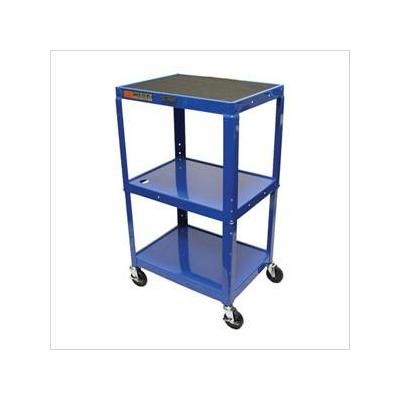 """Luxor Luxor 24-42"""" Adjustable Height A/V Table w/Electric (Royal Blue)"""