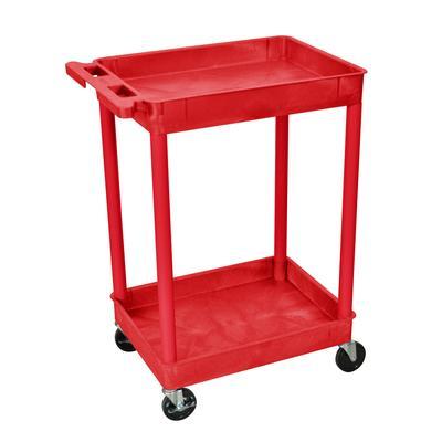 Luxor Luxor RDSTC11RD Tub Cart (2 Shelves, Red Finish)