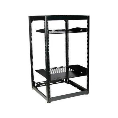 "Sanus Systems CFR1620 35"" Tall AV Rack 20U Stackable Skeleton Rack (20U Wide - Black - 600 lb x Maxi"