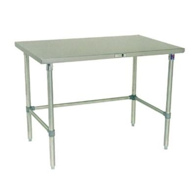 """John Boos Work Table, 48""""w X 24""""d, 14/300 Stainless Steel Flat Top"""