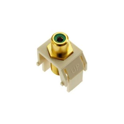 OnQ Keystone Green RCA To F-Connector, White