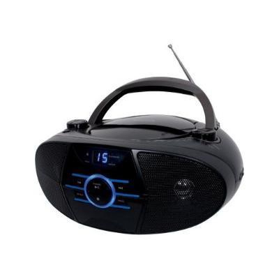 AM/FM Radio CD Boombox with LED Display - Black (CD-560)