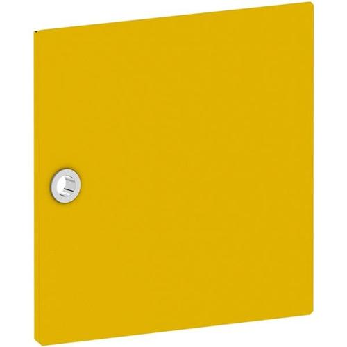 Tür für Regal »System 4« schmal gelb, viasit, 37.5x37.5x1.5 cm