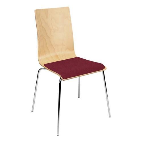 4er-Set Stapelstühle »Cafe VII« rot, Nowy Styl, 46x46.5 cm