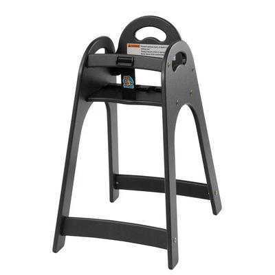 "Koala Kare KB105-02 29 1/2"" Stackable High Chair w/ Waist Strap - Polyethylene, Black"