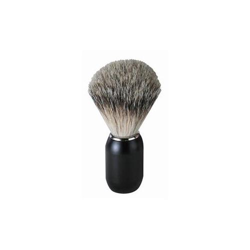 ERBE Shaving Shop Rasierpinsel Rasierpinsel Dachshaar, Metallgriff schwarz matt 1 Stk.