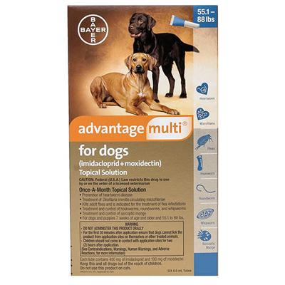 Advantage Multi For Extra Large Dogs Over 25 Kg (Blue) 3 Pack