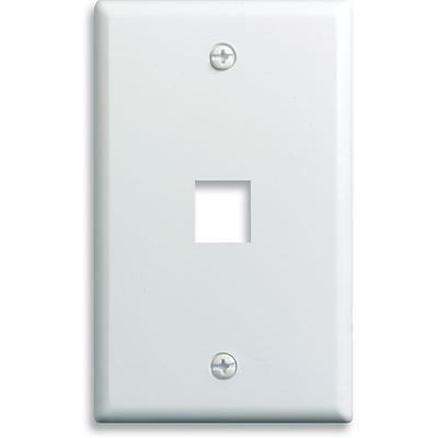 OnQ Single Gang Wall Plate 1-Port, White