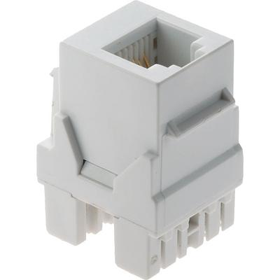 OnQ RJ25 Telephone Connector 6 Position/6Conductor White