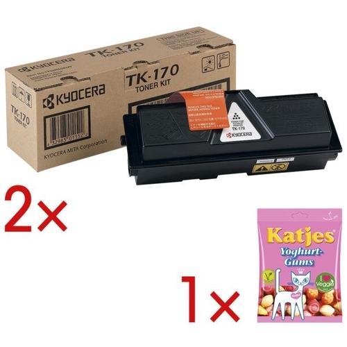 2x Tonerpatrone »TK170« inkl. Fruchtbonbons »Joghurtgums« schwarz, Kyocera