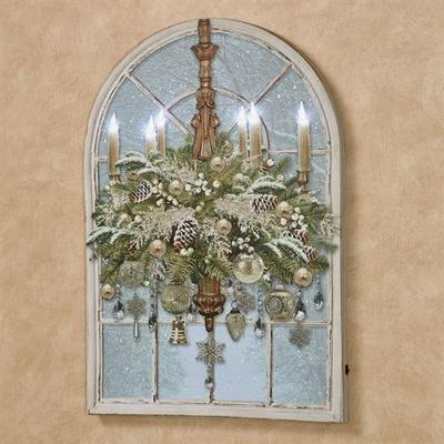 Christmas Chandelier Arched LED Canvas Wall Art Multi Cool , Multi Cool