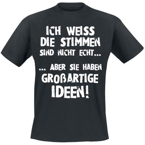 Stimmen... Herren-T-Shirt - schwarz