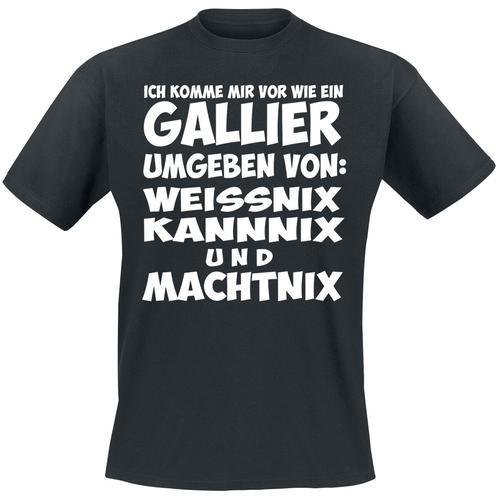 Gallier Herren-T-Shirt - schwarz