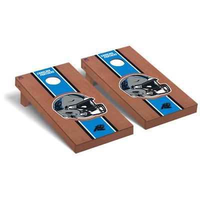 Carolina Panthers 2' x 4' Rosewood Cornhole Board Set