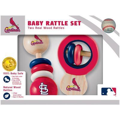 St. Louis Cardinals Infant 2-Pack Wood Rattle Set