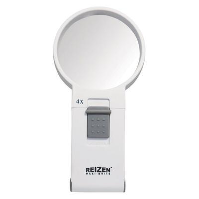 """""""Reizen Magnifiers Maxi-Brite LED Handheld Magnifier Loupe - 4X White Model: 6970"""""""