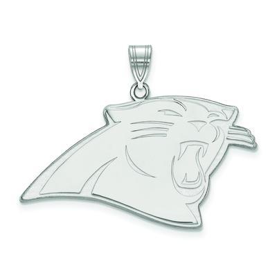 Women's Carolina Panthers Sterling Silver XL Pendant