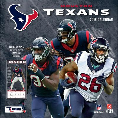 "Houston Texans 2018 12"" x Team Wall Calendar"