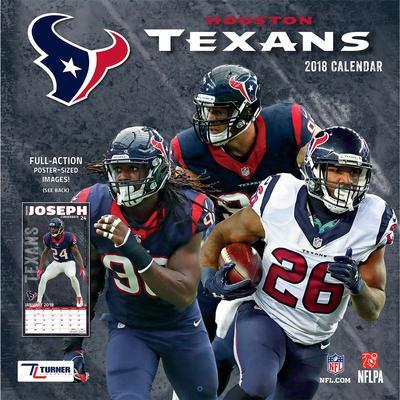 "Houston Texans 2018 12"" x Team Wall Calendar"