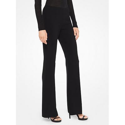 Michael Kors Stretch-Crepe Flared Pants Black 6