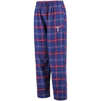 """Concepts Sport Texas Rangers Royal/Red Ultimate Plaid Flannel Pants"""