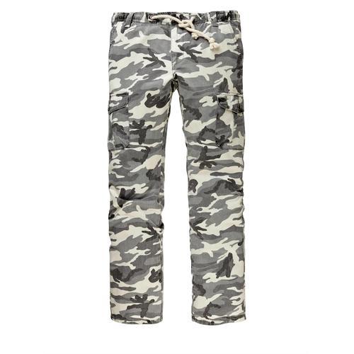 Men Plus by Happy Size Cargohose Camouflage grau Herren Cargohosen Hosen